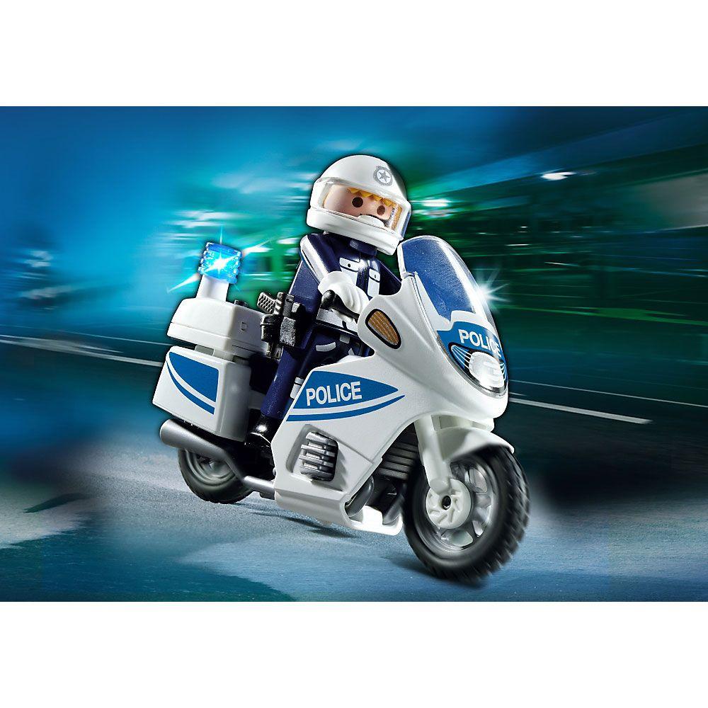 Playmobil city action motor policyjny ze światłem led 6923