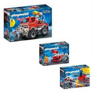 Playmobil pompier soldes