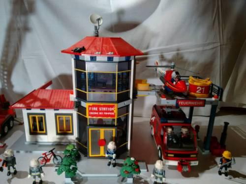 Playmobil feuerwehrstation ebay