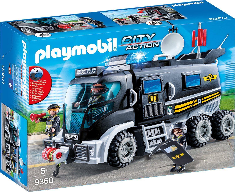 Playmobil bus mit strassensperre