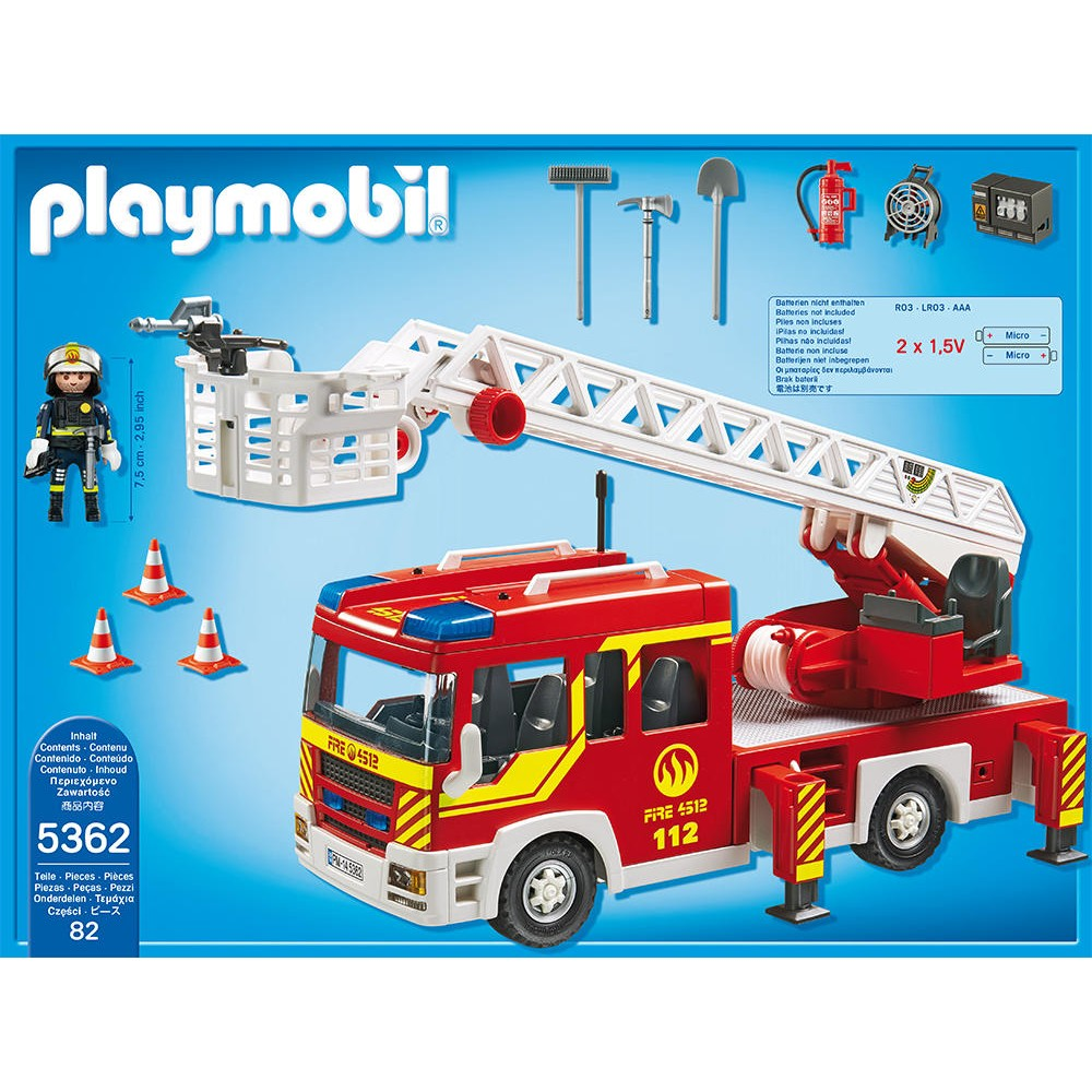 Camion pompier playmobil rue du commerce