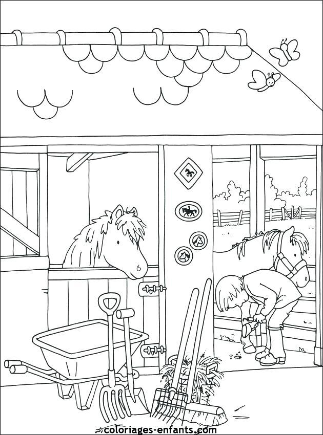Coloriage imprimer playmobil centre equestre - Poney coloriage ...