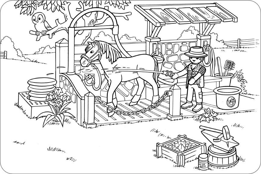 dessin playmobil cowboy  stepindancefr