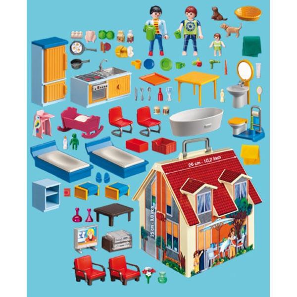 Playmobil maison transportable carrefour Maison transportable