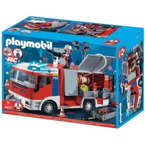 Playmobil pompier remorque