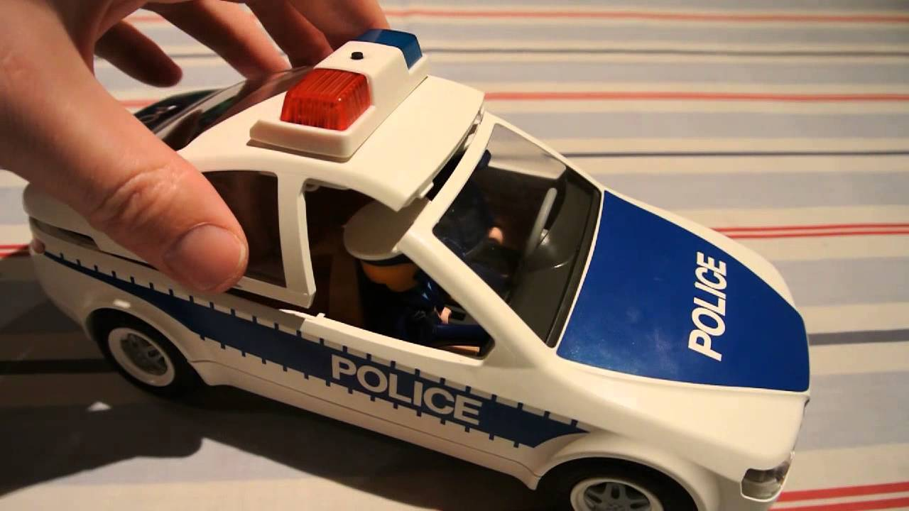 Playmobil police car and boat