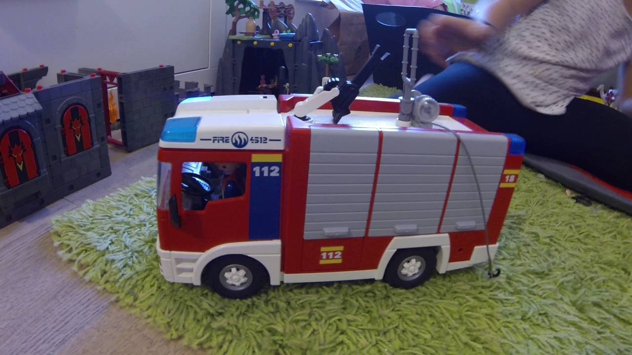 Camion pompier playmobil youtube