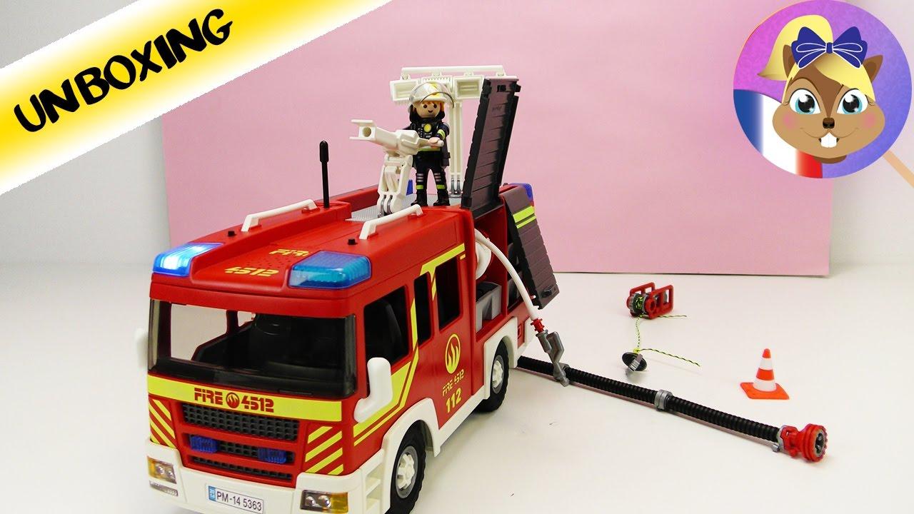 Camion pompier playmobil dessin animé