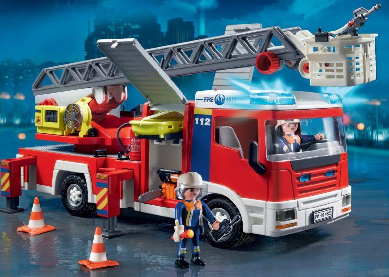 Camion pompier playmobil sirene