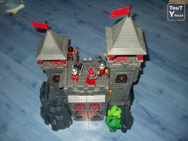 Chateau playmobil dragon rouge montage