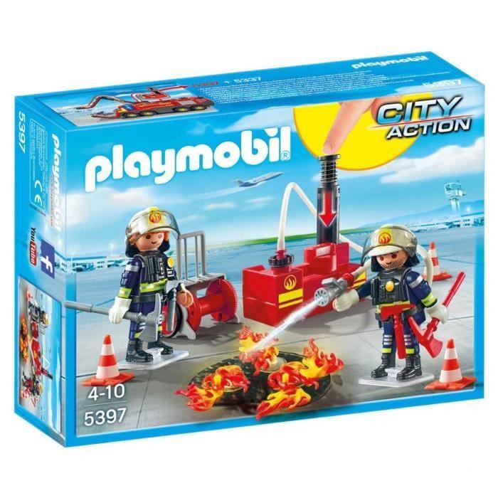 Caserne de pompier playmobil youtube