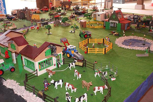 Diorama playmobil ferme