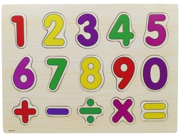 Puzzle bois chiffre