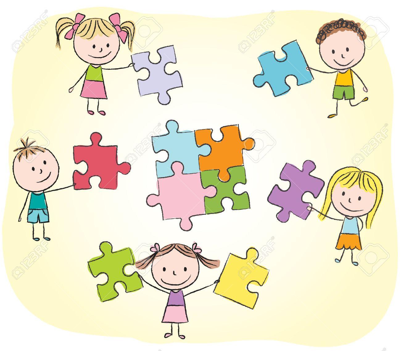 Dessin enfant puzzle - Puzzle dessin ...