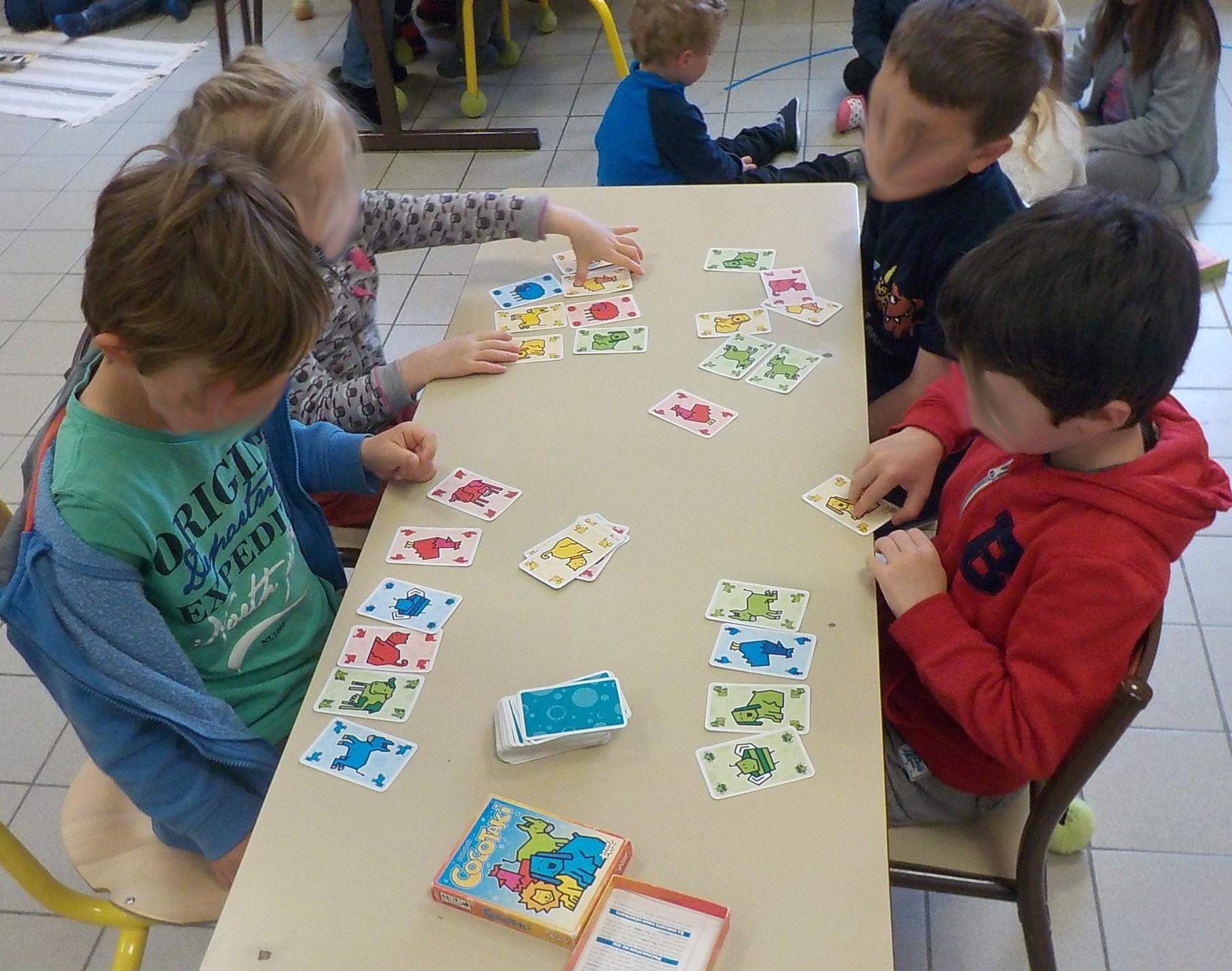 Projet jeux de société à l'école maternelle