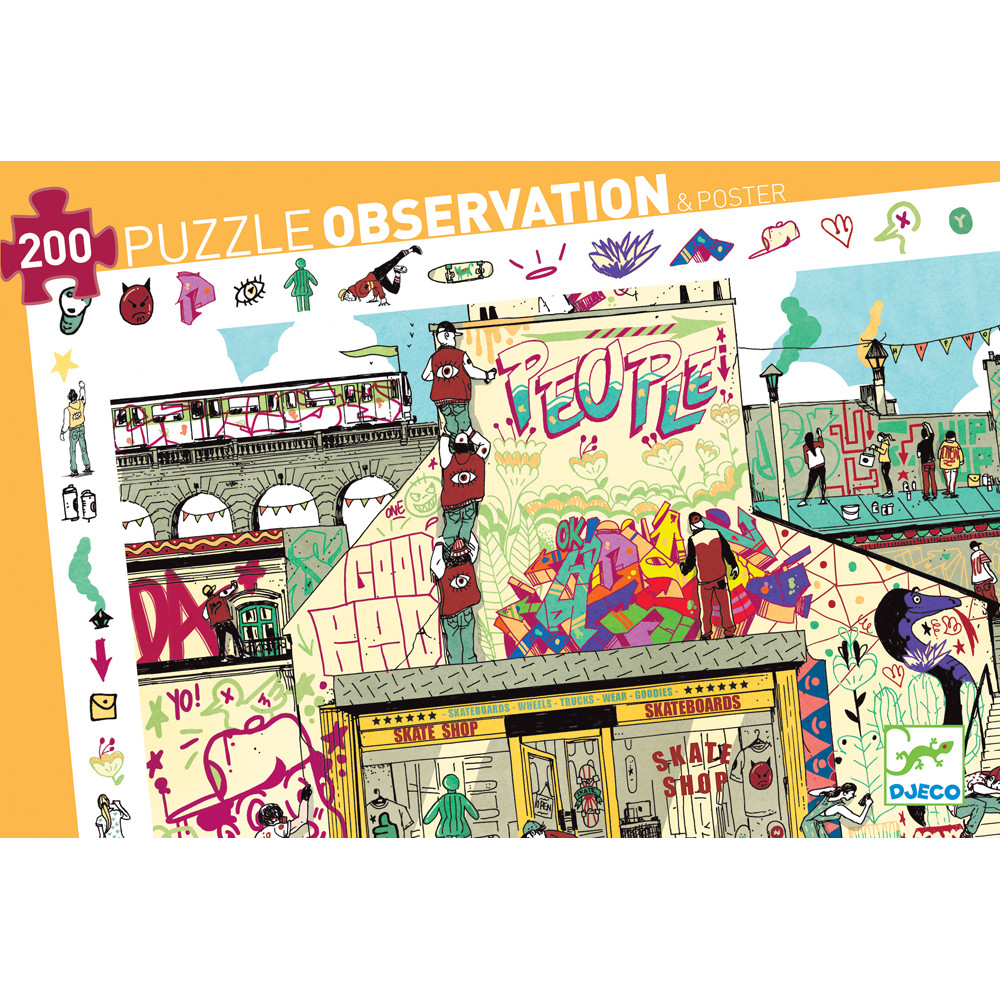 Djeco puzzle observation