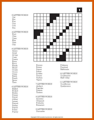 Create crossword puzzle free printable