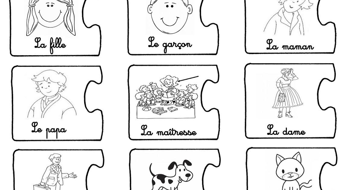 Puzzle visage maternelle